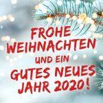 Frohe Weihnachten und ein gutes neues Jahr 2020!