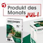 """Produkt des Monats Juli """"Office-Papier Discovery"""""""
