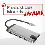 """Produkt des Monats Januar """"Adapter USB-C Multiport-Hub"""""""
